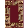 Balta 4-ft x 6-ft Burgundy National Preserve-Red Area Rugs