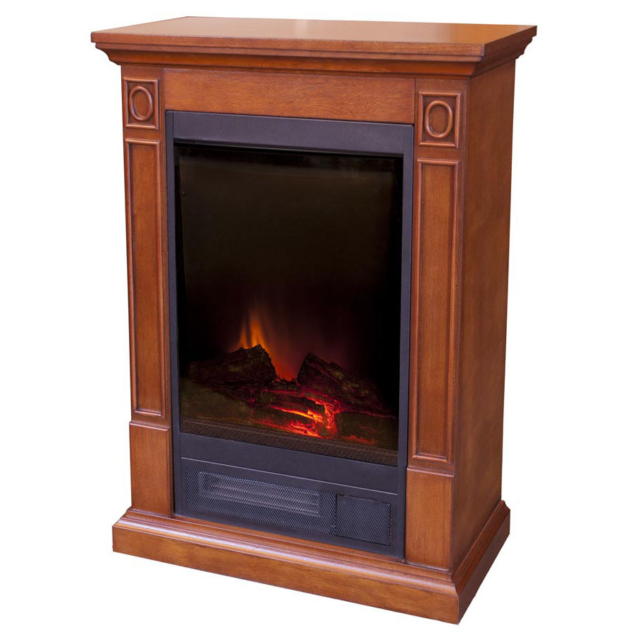 Shop Estate Design 23 In Nutmeg Brown Cherry Electric Fireplace At
