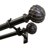 allen + roth 72-in to 144-in Dark Oil Rubbed Bronze Plastic Double Curtain Rod