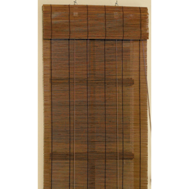 Shop Style Selections Fruitwood Room Darkening Bamboo Roll Up Shade Common
