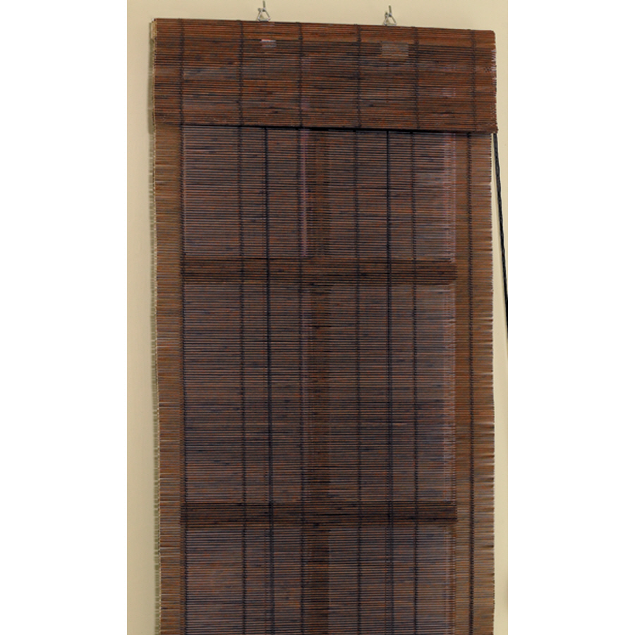Shop Style Selections 24 W X 72 L Cocoa Bamboo 1 4 Slat