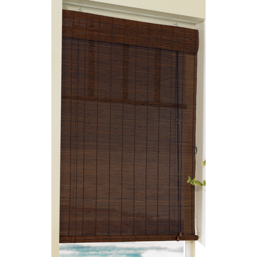 Roll Up Blinds : Shop style selections in l cocoa light filtering bamboo