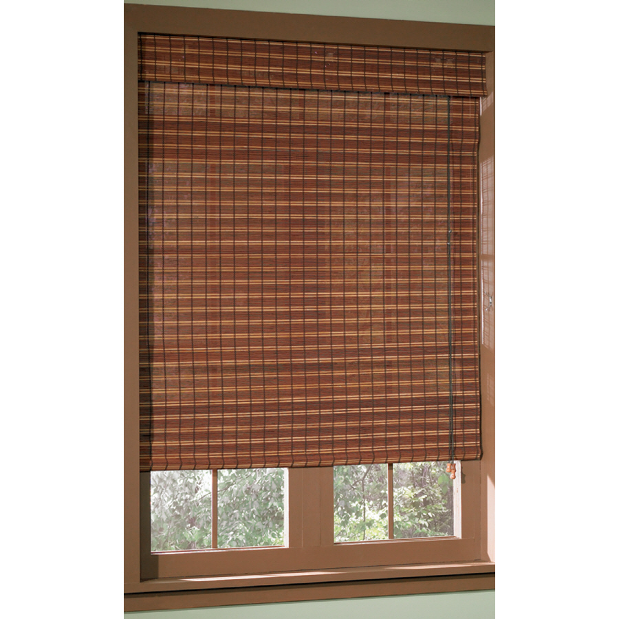 Roman Shades Lowes Blinds Blackout ShadeStyle Selections Cafe Stripe Light Filtering
