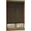 "Style Selections27"" x 72"" Espresso Roman Shade"
