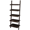 allen + roth 74.75-in H x 25.75-in W x 17.5-in D 5-Tier Wood Freestanding Shelving Unit
