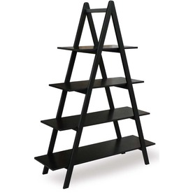 allen + roth 60-in H x 45-in W x 15-in D 4-Tier Wood Freestanding Shelving Unit