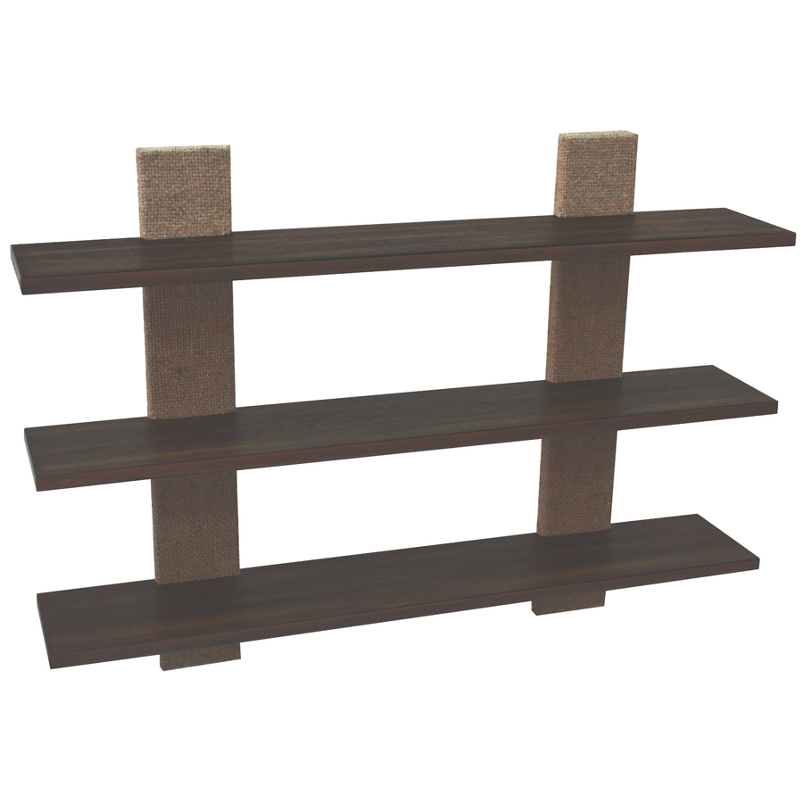 Shop style selections 36 in wood wall mounted shelving at Wall mounted bookcase shelves