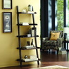 allen + roth 6-ft .75-in H x 2-ft 3-in W x 1-ft 5.63-in D 5-Tier Wood Freestanding Ladder Shelving Unit