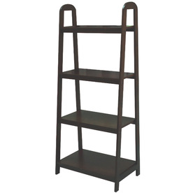 allen + roth 55-in H x 24-in W x 14.75-in D 4-Tier Wood Freestanding Shelving Unit