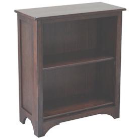 allen + roth Loren Espresso 27.5-in W x 32.13-in H x 13-in D 2-Shelf Bookcase