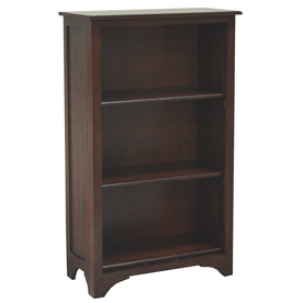 allen + roth Loren Espresso 27.5-in W x 45.5-in H x 13-in D 3-Shelf Bookcase