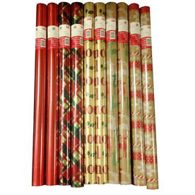 Creative Presence Assorted 2.5-ft x 10-ft Christmas Wrapping Paper IG69064