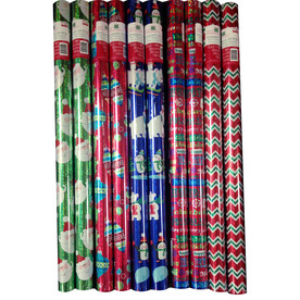 Creative Presence Assorted 2.5-ft x 6-ft Christmas Wrapping Paper IG69065