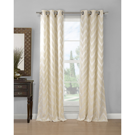 Shop Duck River Textile 96 In L Light Filtering Geometric Linen Grommet Window Curtain Panel At