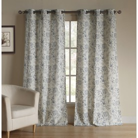 Shop Duck River Textile 84 In L Light Filtering Geometric Blue Grommet Window Curtain Panel At