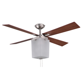 allen + roth Le Marche 56-in Brushed Nickel Downrod Mount Ceiling Fan with Light Kit (4-Blade) ENERGY STAR