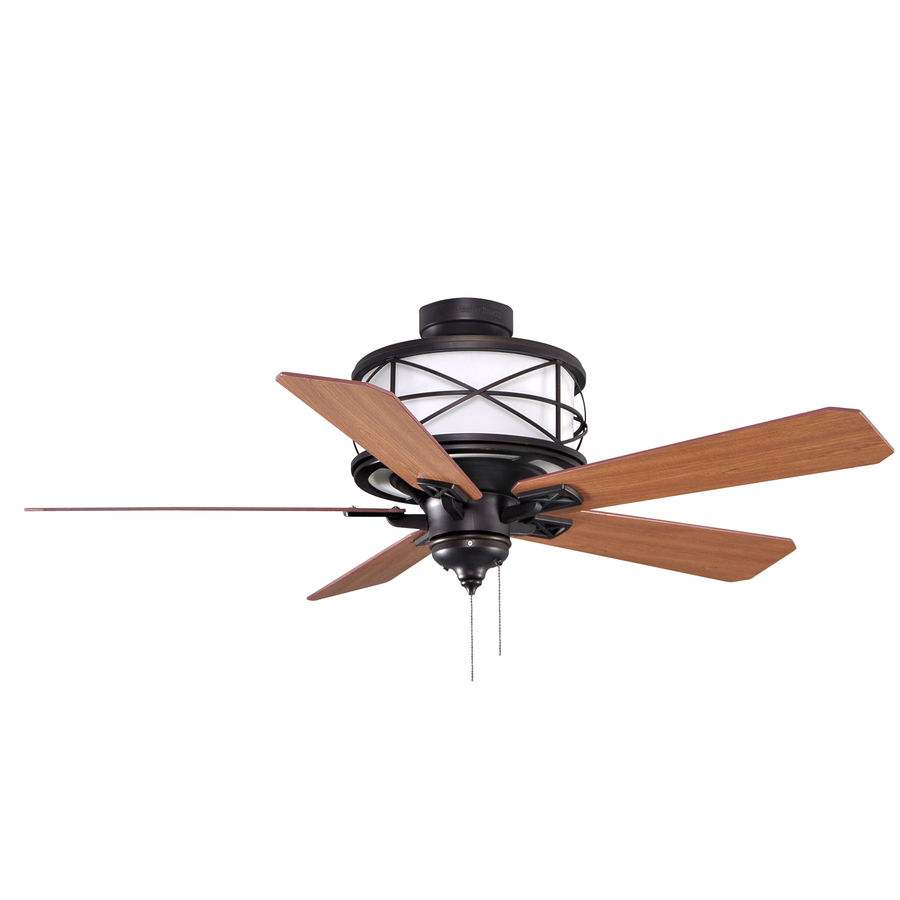 ... roth 52-in Sonning Aged Bronze Ceiling Fan with Light Kit at Lowes.com