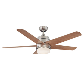 Harbor Breeze 52-in Teolo Brushed Nickel Ceiling Fan with Light Kit