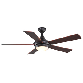 allen + roth 52-in Portes Aged Bronze Ceiling Fan with Light Kit and Remote