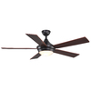 allen + roth Portes 52-in Aged Bronze Downrod Mount Indoor Ceiling Fan with Light Kit and Remote