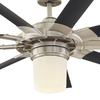 Harbor Breeze Slinger 72-in Brushed Nickel Downrod Mount Indoor Ceiling Fan with Light Kit and Remote Control (9-Blade) ENERGY STAR