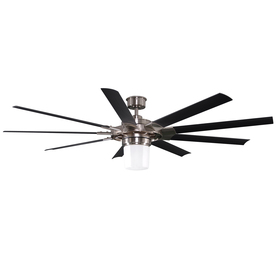 Harbor Breeze 72-in Slinger Helicopter Brushed Nickel Ceiling Fan with Light Kit and Remote ENERGY STAR