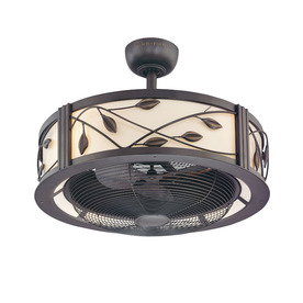 allen + roth 23-in Eastview Aged Bronze Ceiling Fan with Light Kit and Remote