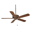 Fanimation Edgewood 50-in Oil-Rubbed Bronze Outdoor Downrod Mount Ceiling Fan ENERGY STAR