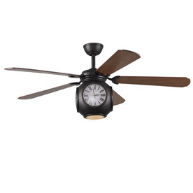Harbor Breeze Rock Hall 52-in Aged Bronze Downrod Mount Indoor Ceiling Fan with Light Kit and Remote Control