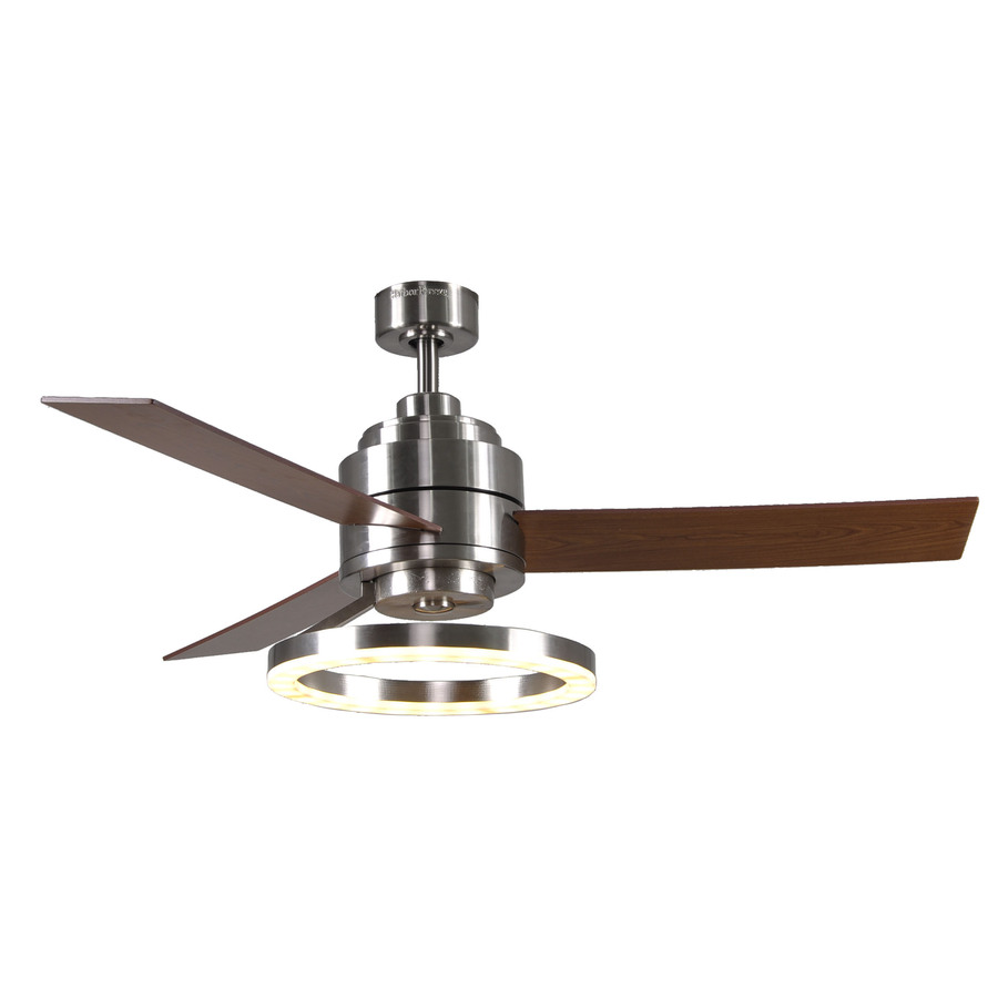 shop harbor breeze pier 39 52 in brushed nickel downrod mount ceiling fan with led light kit and. Black Bedroom Furniture Sets. Home Design Ideas