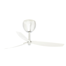 Chrome Indoor Flush Mount Ceiling Fan with Remote Control ENERGY STAR