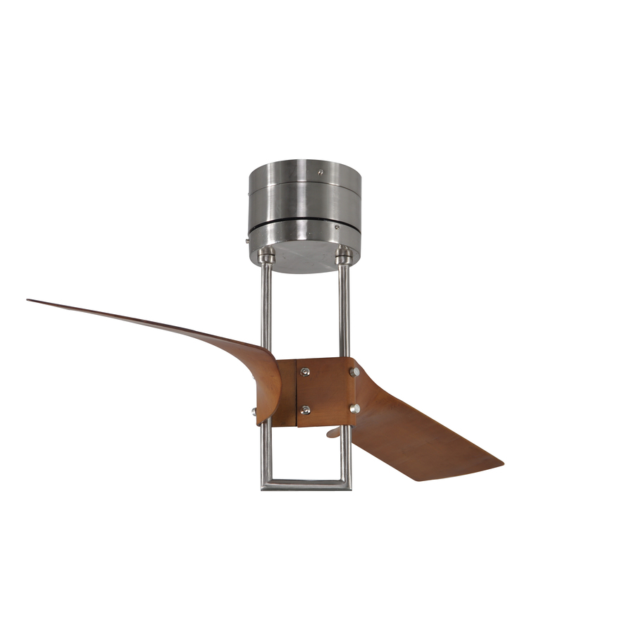 revel island 52 in brushed nickel flush mount ceiling fan with remote