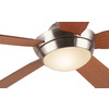 Harbor Breeze Platinum Portes 52-in Brushed Nickel Downrod Mount Indoor Ceiling Fan with Light Kit and Remote Control