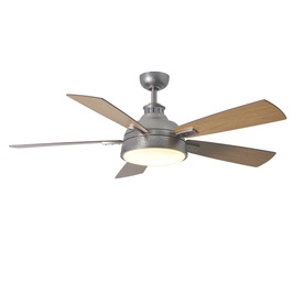 allen + roth Kellerton 52-in Burnished Bronze Downrod Mount Indoor Ceiling Fan with Light Kit and Remote