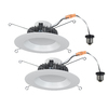 Utilitech Pro 2-Pack 65-Watt Equivalent White LED Recessed Retrofit Downlight (Fits Housing Diameter: 5-in or 6-in)