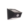 Portfolio 12X Brighter Black Solar LED Post Light with Motion Sensor