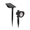 Portfolio Black Solar LED Landscape Flood Light