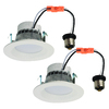 Utilitech 2-Pack 50-Watt Equivalent White LED Recessed Retrofit Downlights (Fits Housing Diameter: 4-in)