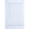 Project Source 1-in White Vinyl Light Filtering Cordless Mini-Blinds (Common 23-in; Actual: 22.50-in x 64-in)