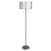 allen + roth Earling 63-in Brushed Nickel Standard Shaded Indoor Floor Lamp with Fabric Shade