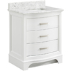 allen + roth Tennaby White Marble Undermount Single Sink Poplar Bathroom Vanity with Natural Marble Top (Common: 30-in x 22-in; Actual: 30-in x 22-in)