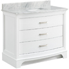 allen + roth Tennaby White Marble Undermount Single Sink Poplar Bathroom Vanity with Natural Marble Top (Common: 42-in x 22-in; Actual: 42-in x 42-in)