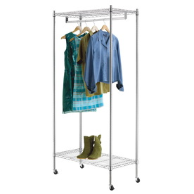 Style Selections Chrome Steel Garment Rack