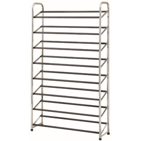 Style Selections Chrome Metal 8-Tier Shoe Rack