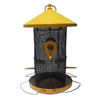 Garden Treasures Yellow and Black Steel Tube Bird Feeder