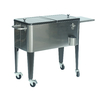 Sunjoy 80-Quart Wheeled Steel Cart Cooler