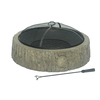 Sunjoy 34-in W Grey Wood Steel Wood-Burning Fire Pit