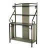 Sunjoy 66-in Brown Indoor/Outdoor Rectangular Steel Plant Stand