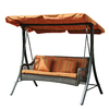 Sunjoy 3-Seat Steel Traditional Porch Swing