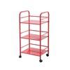 Sunjoy Red Steel Outdoor Serving Cart